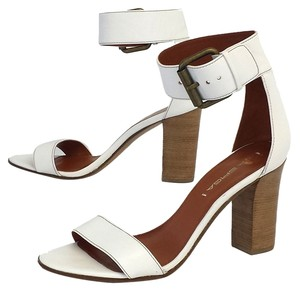 Via Spiga Leather Sandal Heels Sandals