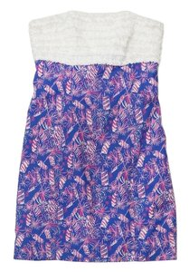 Lilly Pulitzer short dress Print Cotton Strapless on Tradesy