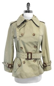 Dolce&Gabbana Double Breasted Short Trench Trench Trench Coat