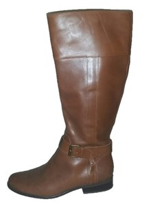Anne Klein Leather Boot Tan Boots