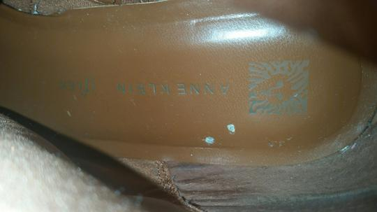 Anne Klein Leather Tan Boots