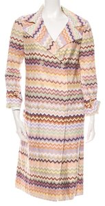 Missoni Beige Striped Trench Coat