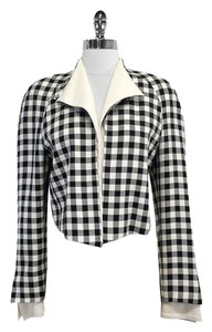 Dior Vintage Gingham Silk Cropped Jacket