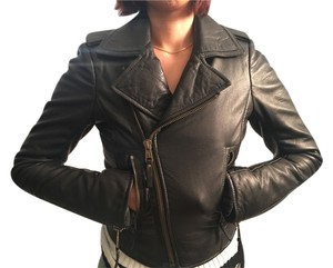 Balenciaga Leather Leather Black Jacket