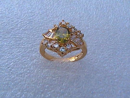 Other 14k Yellow Gold Filled Peridot & White Topaz Image 1