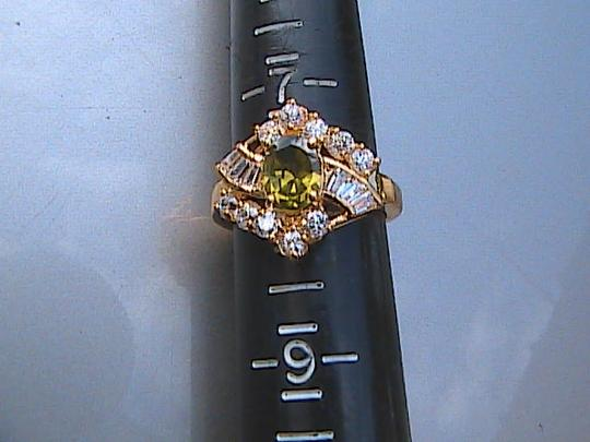 Other 14k Yellow Gold Filled Peridot & White Topaz Image 4