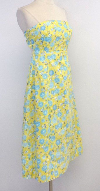 Lilly Pulitzer short dress Floral Print Cotton Strapless on Tradesy