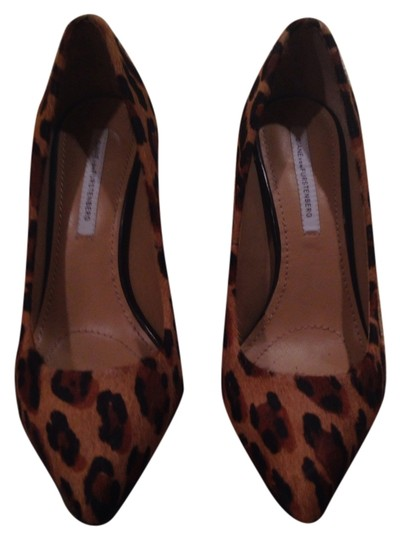 Diane von Furstenberg Brown with black spots Pumps