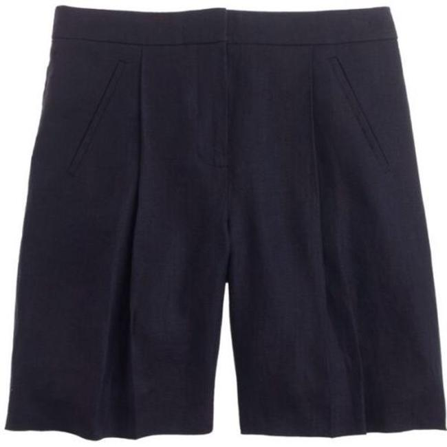J.Crew Collection Linen Shorts navy