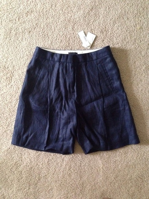 J.Crew Collection Linen Shorts navy Image 3