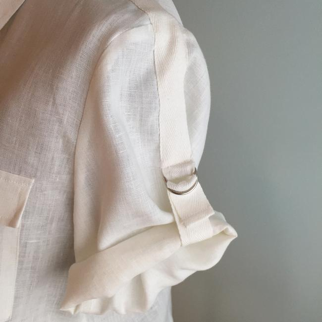 Other Size Small Tops Linen Linen Tops Small Button Down Shirt Ivory Image 1