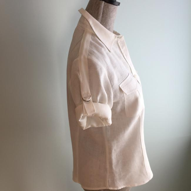 Other Size Small Tops Linen Linen Tops Small Button Down Shirt Ivory Image 4
