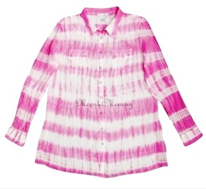 Soft Surroundings New Without Tags Silk Tie Dye Top Pink