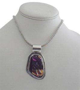 .925 Sterling Silver Multicolor Gemstone Pendant