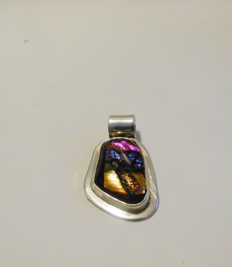 Other .925 Sterling Silver Multicolor Gemstone Pendant