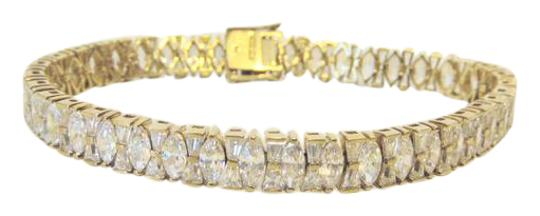 Victoria Wieck Victoria Wieck Marquise and Baguette Line Bracelet 8""