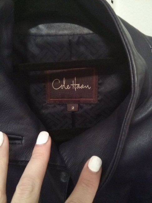 Cole Haan Leather Jacket Image 1
