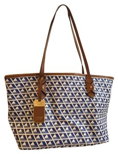 Ralph Lauren Tote in White And Blue