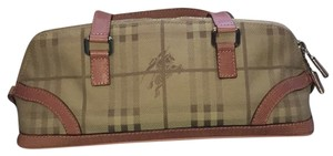 Burberry London Satchel in Tan And Pink