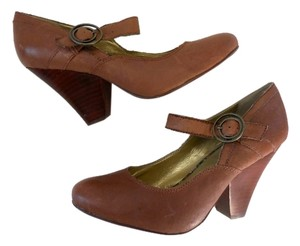 Seychelles Buckle Maryjanes Leather Brown Pumps
