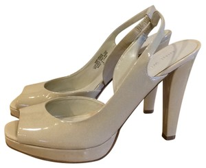 Nine West Nude or Ivory Platforms