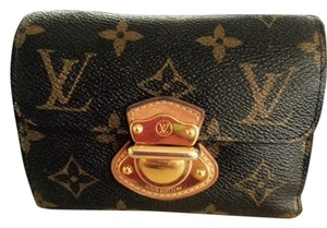 Louis Vuitton New Leather Brown Monogram Clutch