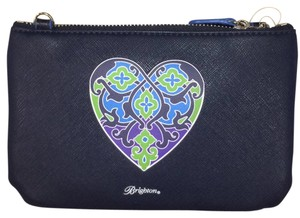 Brighton Wristlet in Navy With Heart Paisley