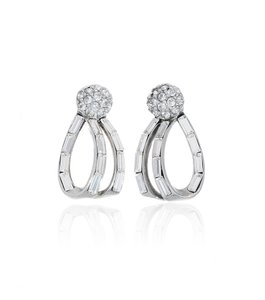 Ben-Amun Bridal Double Drop Swirl Earrings