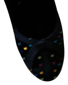 Rocket Dog Black With Bright Multi Colored Polka Dots Pumps