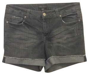 Forever 21 Cuffed Shorts Black gray