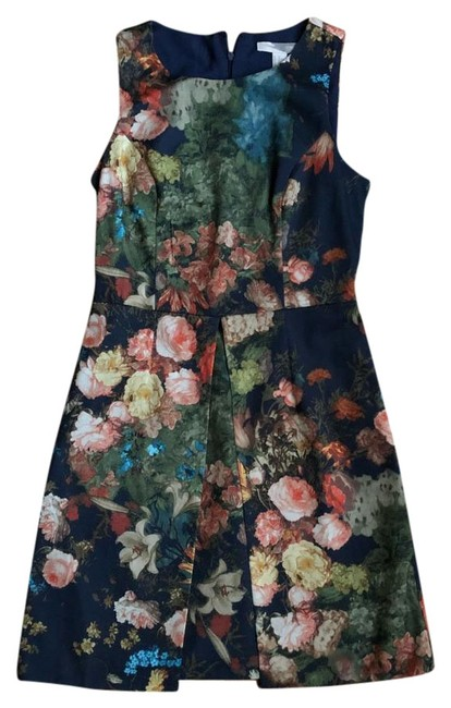 Forever 21 Floral Floral Floral Floral Print Peplum Style Night Out Flowers Flower Dress