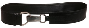 Prada Authentic Prada Thick Black Leather Clasp Belt Sz 32