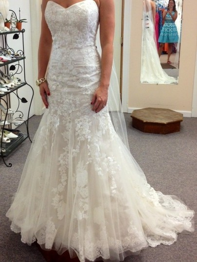 Maggie Sottero Ivory Over Pearl Rose Ascher Wedding Dress Size 4 (S)