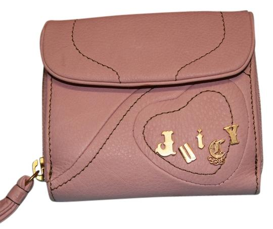 Juicy Couture Juicy Couture Pink Wallet with Gold Hardware