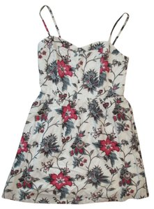 Ann Taylor LOFT short dress White Summer Floral on Tradesy