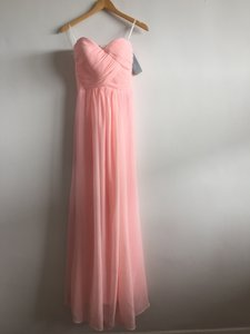 Carnation Pink Chiffon Sweetheart Simple Elegant Destination Bridesmaid/Mob Dress Size 4 (S)