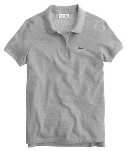 J.Crew Lacoste Polo T Shirt Grey