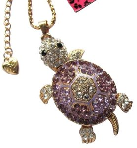 Betsey Johnson NWT Betsey Johnson Purple Crystal Turtle Pendant Necklace