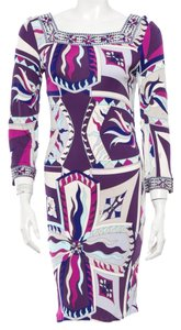 Emilio Pucci Print Longsleeve Graphic Dress