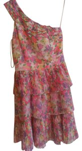 Gianni Bini short dress Paradise pink Special Occasions Floral Pleated One Shoulder on Tradesy
