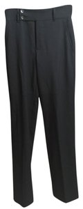 Gucci Lana Wool Wool Spandex Straight Pants Black