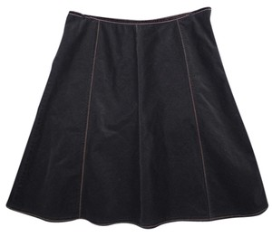 Casual Corner Annex Cotton Machine Washable Skirt Brown