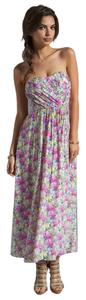 Pink -Multi Maxi Dress by Yumi Kim Strapless Designer Peonies Print