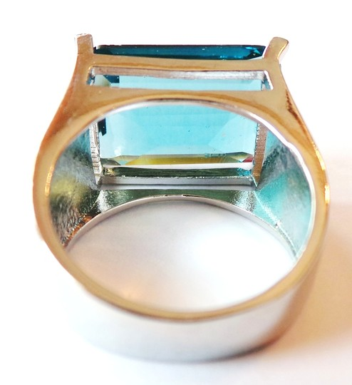 Other Stunning London Blue Topaz Solitare 925 Sterling Silver 14k Ring 7.5