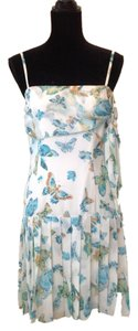 A.B.S. by Allen Schwartz short dress White, blue on Tradesy