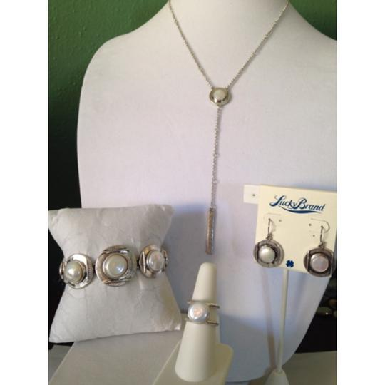 Lucky Brand Silver-Tone Pearl Drop Necklace Image 5
