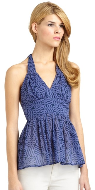 Preload https://item1.tradesy.com/images/french-connection-blue-pixie-pixels-cotton-printed-halter-top-size-4-s-5088340-0-0.jpg?width=400&height=650