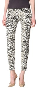David Kahn Denim Animal Print Skinny Jeans-Coated