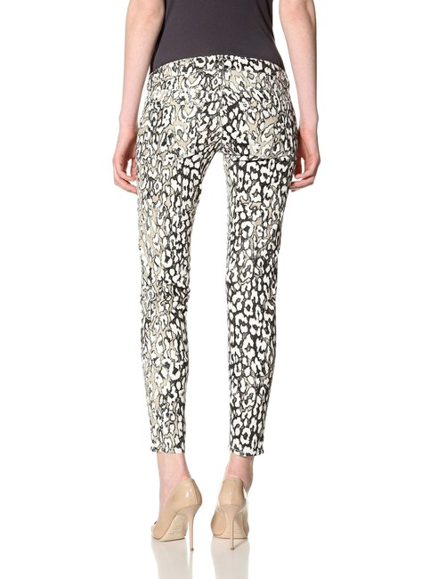 David Kahn Denim Animal Print Skinny Jeans-Coated Image 1
