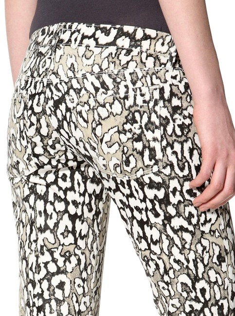 David Kahn Denim Animal Print Skinny Jeans-Coated Image 2